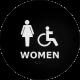 ADA Womens Restroom Sign