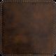 Rustic Faux Leather Square Coaster